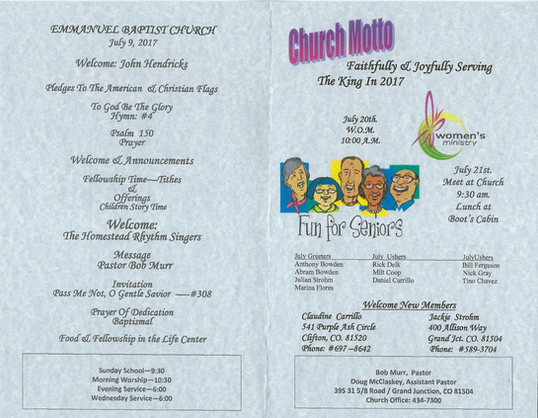 Emmanuel Baptist Church grand opening, p