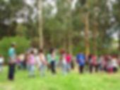 Estudiantes del colegio Acuarela del Sol de Arequipa