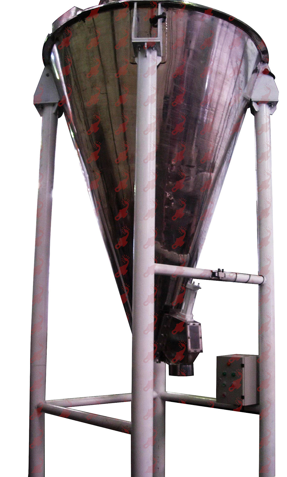 Vertical Cone Mixer for food dye