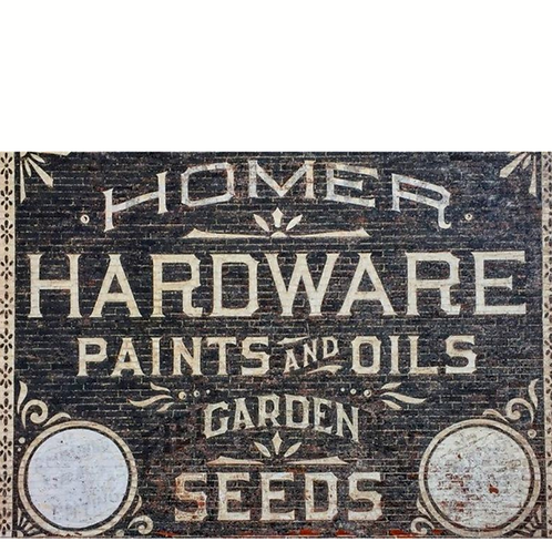 Roycycled Decoupage Paper - HARDWARE - Vintage Paint Farmhouse Style Sign Print
