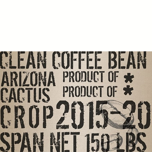 Roycycled Decoupage Paper-COFFEE SACK-Vintage Arizona Clean Coffee Bean Print