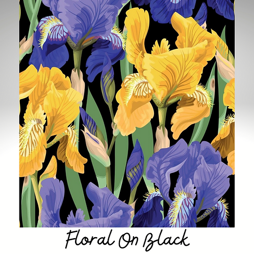 FLORAL ON BLACK Decoupage Rice Paper-for Furniture & Decor -by Dixie Belle Paint