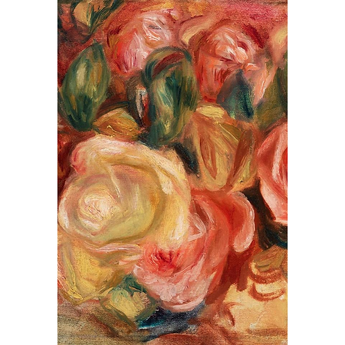 TEXTURED FLORAL (right) -PAINTED ROSE BOUQUET PRINT- Roycycled Decoupage Paper