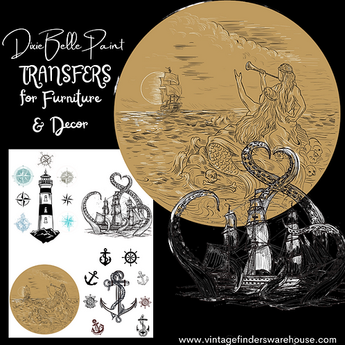 NAUTICAL LIFE- Transfers for Furniture & Decor- by Dixie Belle Paint