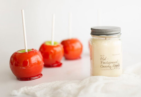 8oz OLD-FASHIONED CANDY APPLE Scented Back Porch Candle Co. (Soy Wax, Ess Oils)