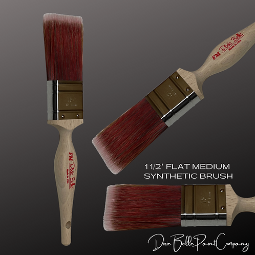 "Dixie Belle 1 1/2"" FM FLAT MEDIUM Synthetic Paint Brush Brushes"
