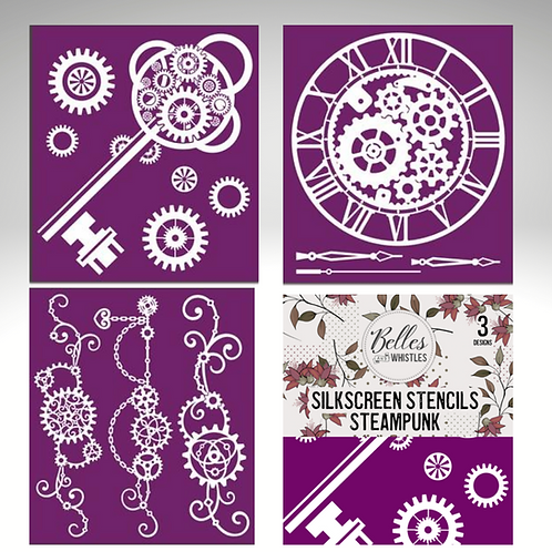 STEAMPUNK Silk Screen Stencils by Dixie Belle Paint- for Furniture & Decor