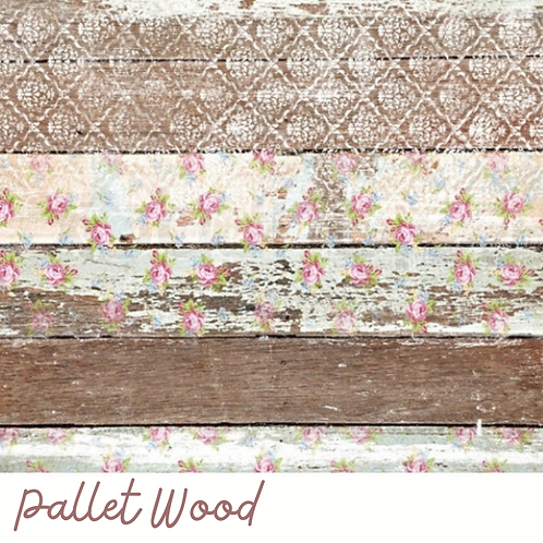 PALLET WOOD- Decoupage Rice Paper-Boho Farmhouse Style-Dixie Belle
