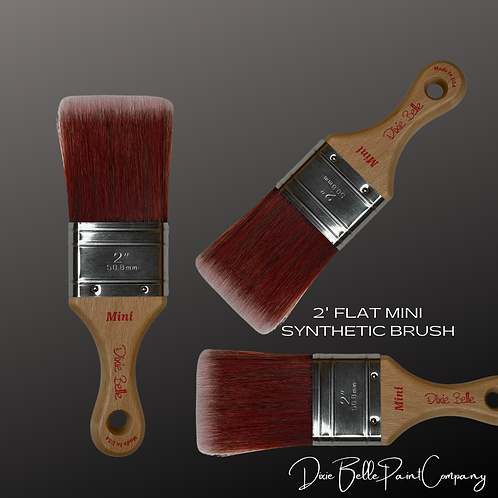 "Dixie Belle MINI 2"" Synthetic Flat Edge Paint Brush"