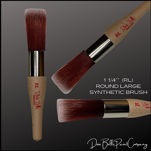 "Dixie Belle RL ROUND LARGE  1 1/4"" Synthetic Paint Brush"