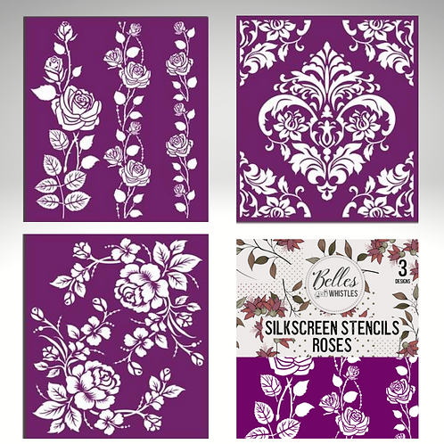 ROSES Silk Screen Stencils by Dixie Belle Paint-for Furniture & Decor