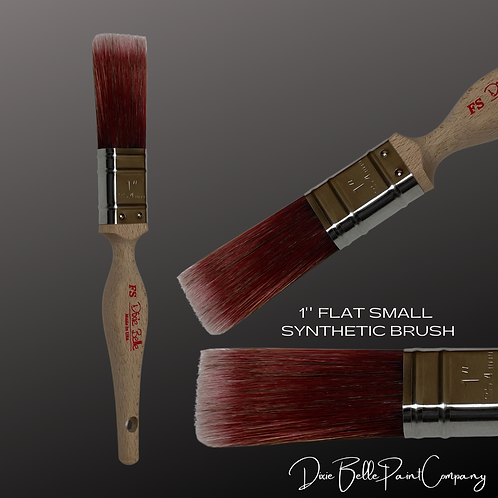 "Dixie Belle FS 1"" FLAT SMALL Synthetic Paint Brush Brushes"