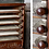 Thumbnail: (SOLD) Antique 1877 Victorian Era EUREKA Spool Silk THREAD CABINET  Glass Front
