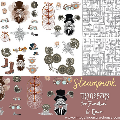 STEAMPUNK - Transfers for Furniture & Decor- by Dixie Belle Paint