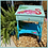 Thumbnail: BLUE OMBRE PAINTED Vintage PINK FLAMINGO END TABLE Night Stand