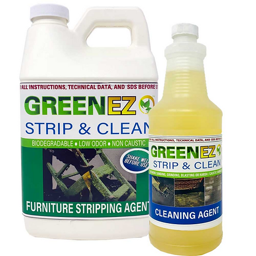 GREENEZ STRIP & CLEAN- Best Paint & Varnish Stripper- Soy Based- WISE OWL