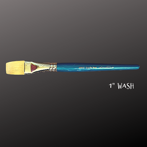 "*Paint Pixie Paint Brushes* Turquoise Iris Pro Collection 1"" WASH BRUSH"