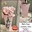 Thumbnail: Vintage 1950s PINK CERAMIC WALL POCKET Wall Vase- Farmhouse Kitchen Decor