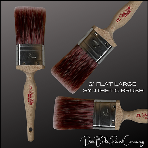 "Dixie Belle FL 2"" FLAT LARGE Synthetic Paint Brush Brushes"