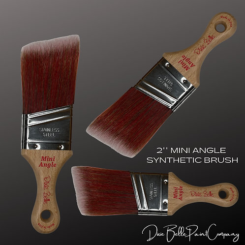 "Dixie Belle 2"" MINI ANGLE PAINT BRUSH DBP Synthetic Brushes"
