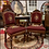 Thumbnail: Antique Victorian Era Gothic 1800's CARVED WOOD PARLOR CHAIRS Embroidered Seats