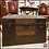 Thumbnail: Antique Victorian Era 1870's JENNY LIND STEAMER TRUNK Round Top Treasure Chest