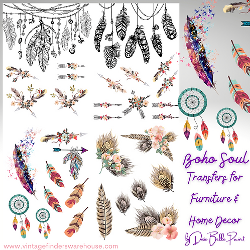 BOHO SOUL - Transfers for Furniture & Decor- by Dixie Belle Paint