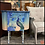 Thumbnail: (SOLD) PAINTED PEACOCK Vintage MARTHA WASHINGTON SEWING TABLE -Coastal Farmhouse