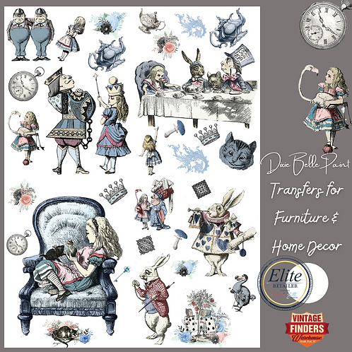 ALICE IN WONDERLAND - Transfers for Furniture & Decor- by Dixie Belle Paint
