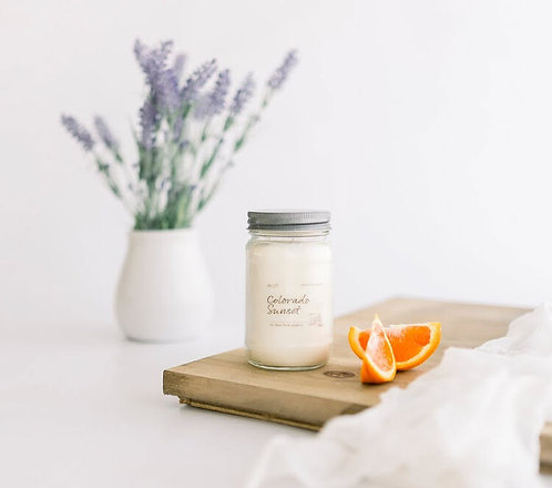 8oz COLORADO SUNSET Scented Back Porch Candle Co. (Soy Wax, Essential Oils)