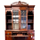 Thumbnail: 1940's Vintage MAHOGANY SECRETARY DESK Book Shelf Display Case/Home Office