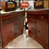 Thumbnail: ART DECO Antique 1930s WATERFALL LIQUOR CABINET Vintage Buffet/Record Shelf