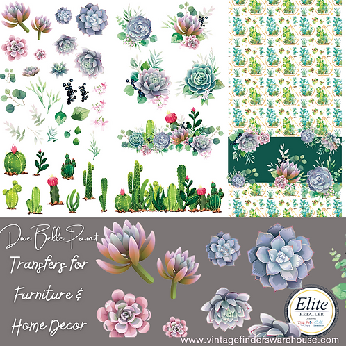 CACTI & SUCCULENTS -Transfers for Furniture & Decor- by Dixie Belle Paint
