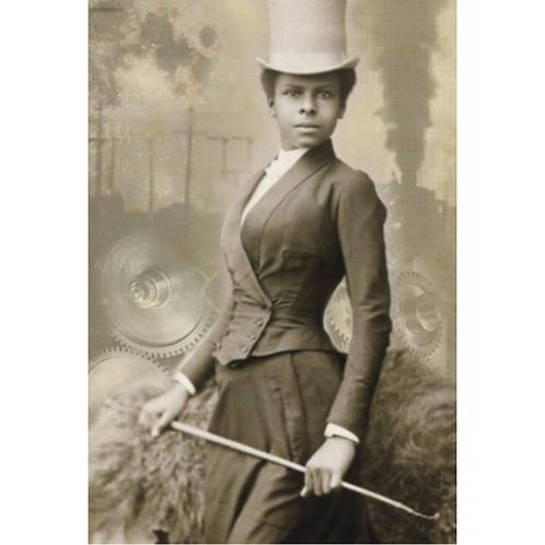 SELIKA - Roycycled Decoupage Paper - Vintage 1800's Victorian Woman Photo