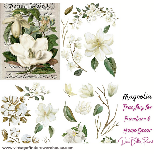 MAGNOLIA -Transfers for Furniture & Decor- by Dixie Belle Paint