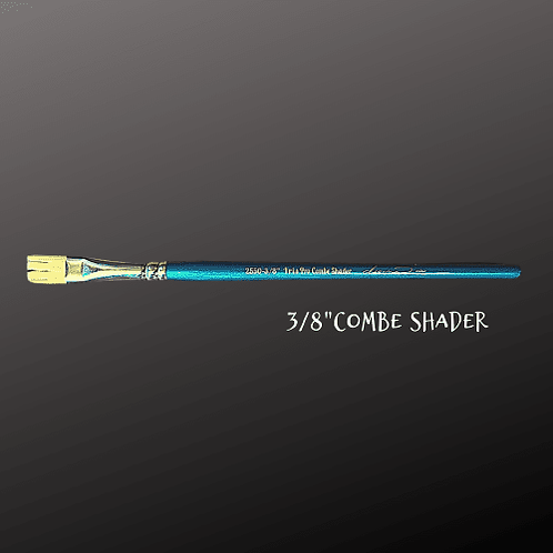 "Paint Pixie Paint Brushes Turquoise Iris Pro Collection 3/8"" COMBE SHADER BRUSH"