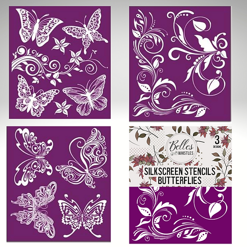 BUTTERFLY Silk Screen Stencils- by Dixie Belle Paint- for Furniture & Decor