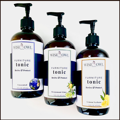 Wise Owl Furniture Tonic-Scented & Unscented-Non Toxic Hemp Oil Furniture Polish