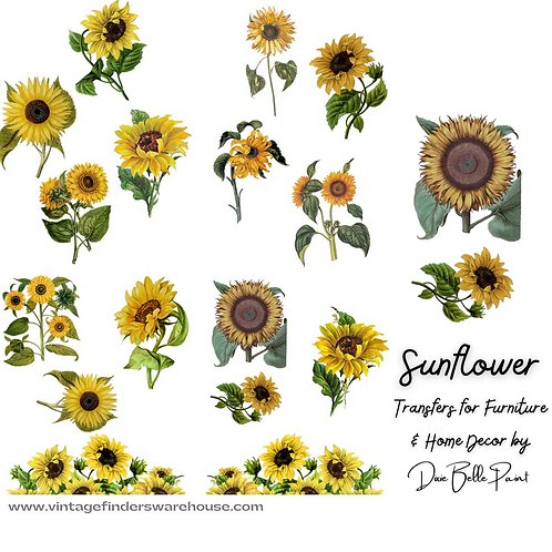 SUNFLOWER - Transfers for Furniture & Decor - by Dixie Belle Paint