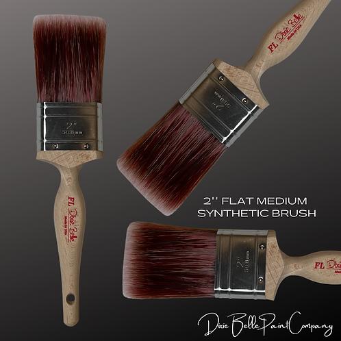 "Dixie Belle FL 2"" FLAT LARGE Synthetic Paint Brush Brushes"