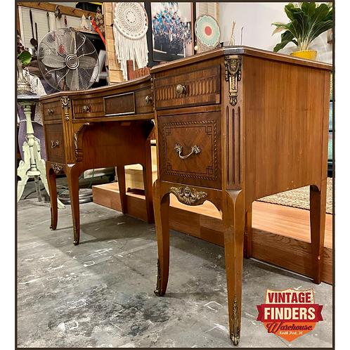 ART DECO Nouveau Antique SLIGH Furniture Co. WRITING DESK Vintage Entry Table