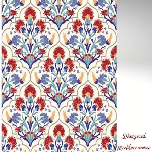 WHIMSICAL MEDITERRANEAN Decoupage Rice Paper-for Furniture & Decor -Dixie Belle