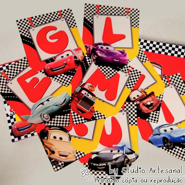 bandeirola Carros Disney