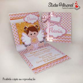 Convite mini pop up Batizado