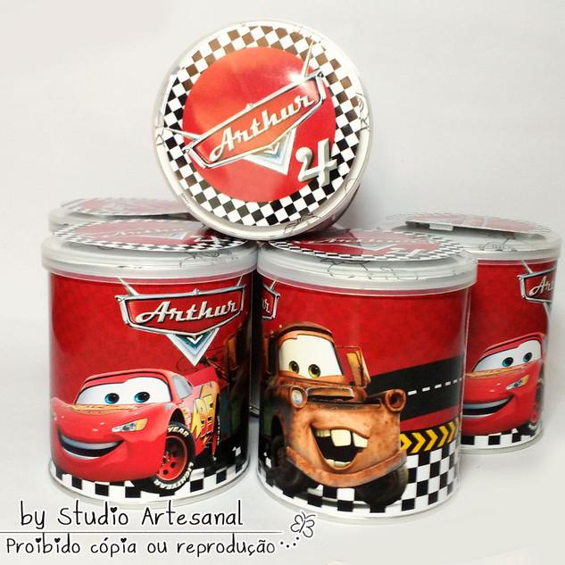 Latinha de Batata Carros Disney