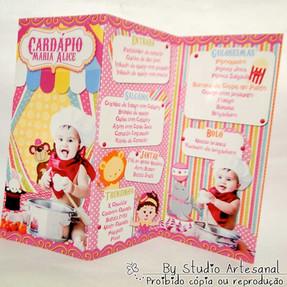 Cardápio Circo