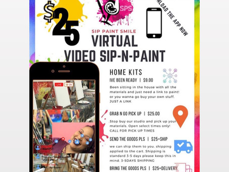 Sip Paint Smile Virtual Paint Parties!!!