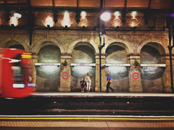 at night in Nottinghill station
