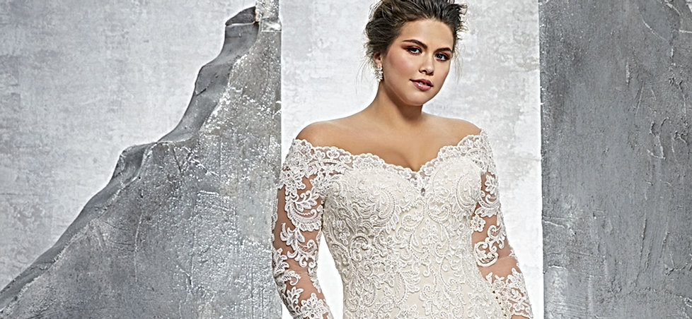 Plus Size Wedding Gowns With Sleeves: Bridal Shop Nottingham