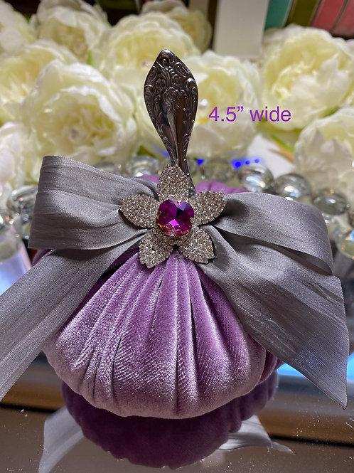 Lavender velvet with vintage spoon stem